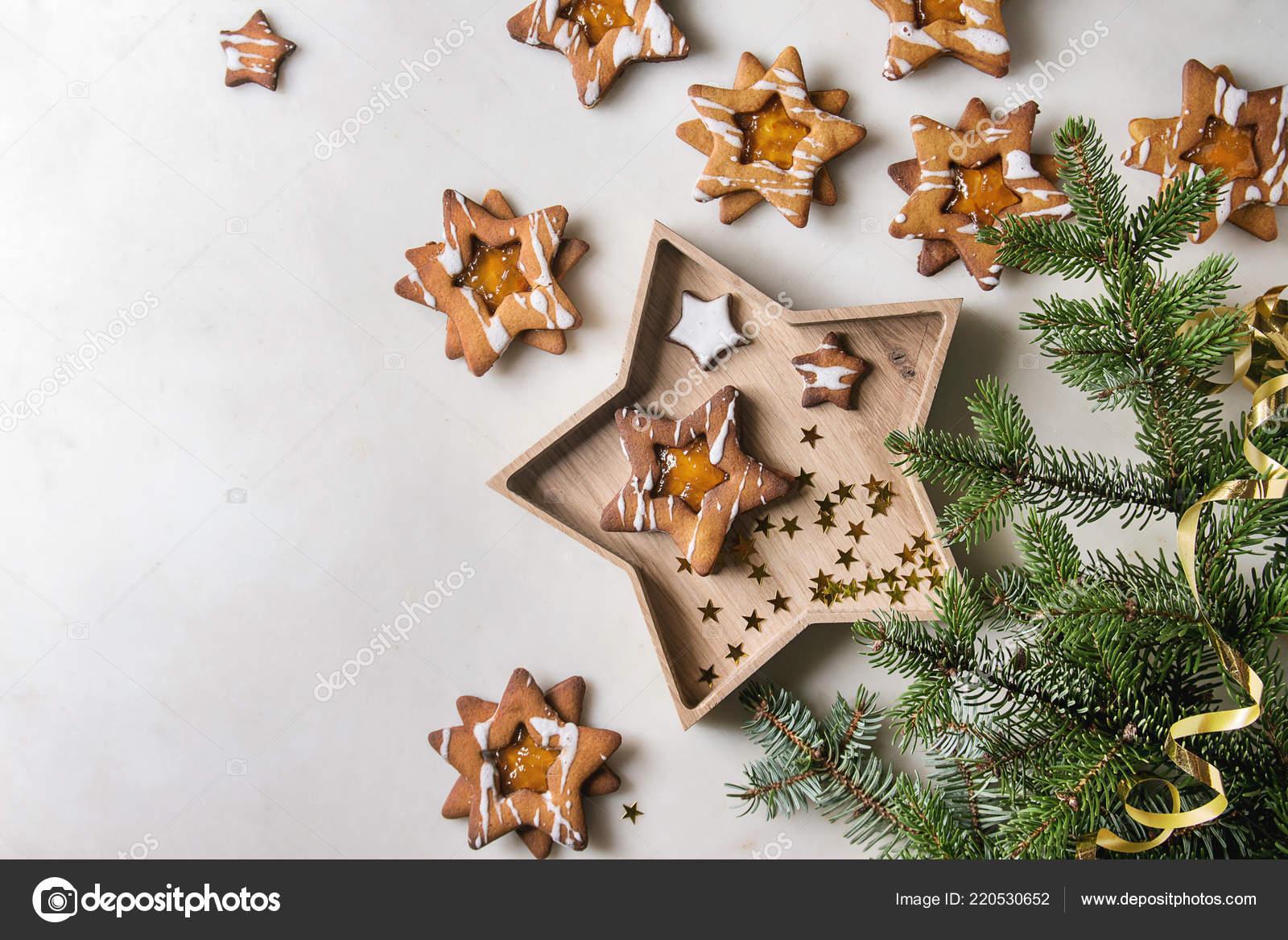 Stella Di Natale In Casa.Forma Stella Natale Fatti Casa Zucchero Biscotti Caramello Con