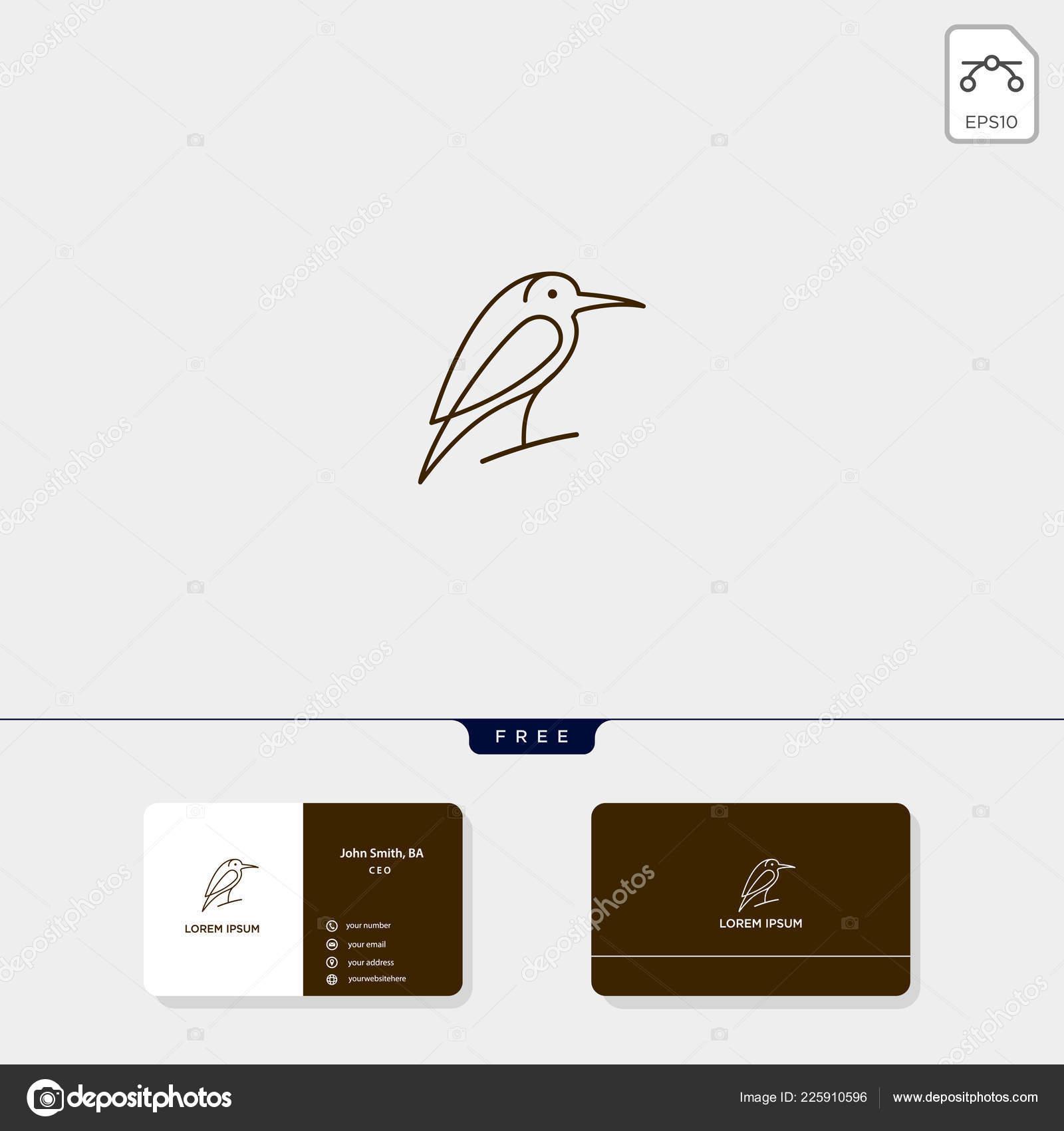 flying bird outline logo template vector illustration logo
