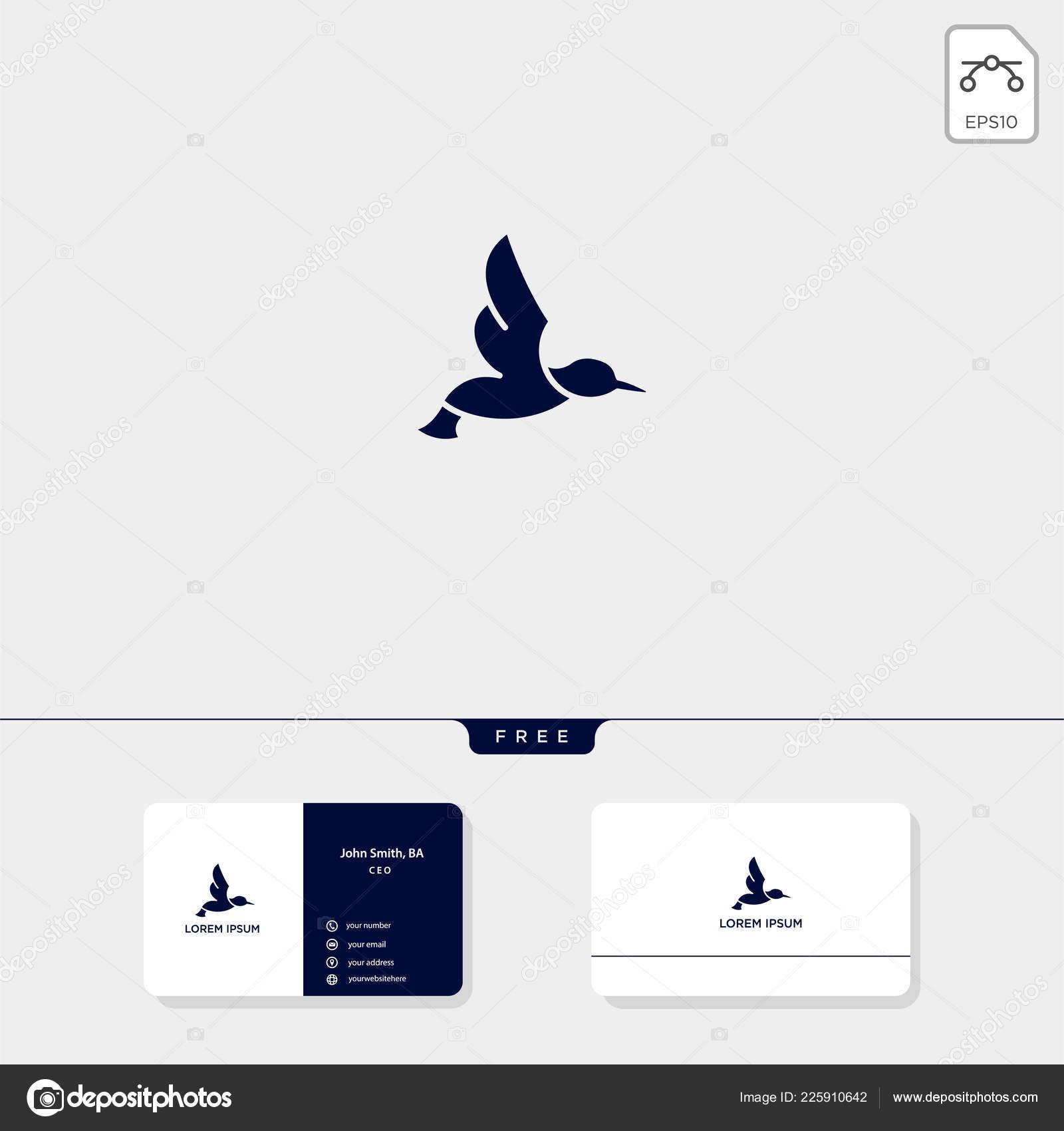 飛行鳥の概要のロゴのテンプレート ベクトル イラストとロゴ 企業の