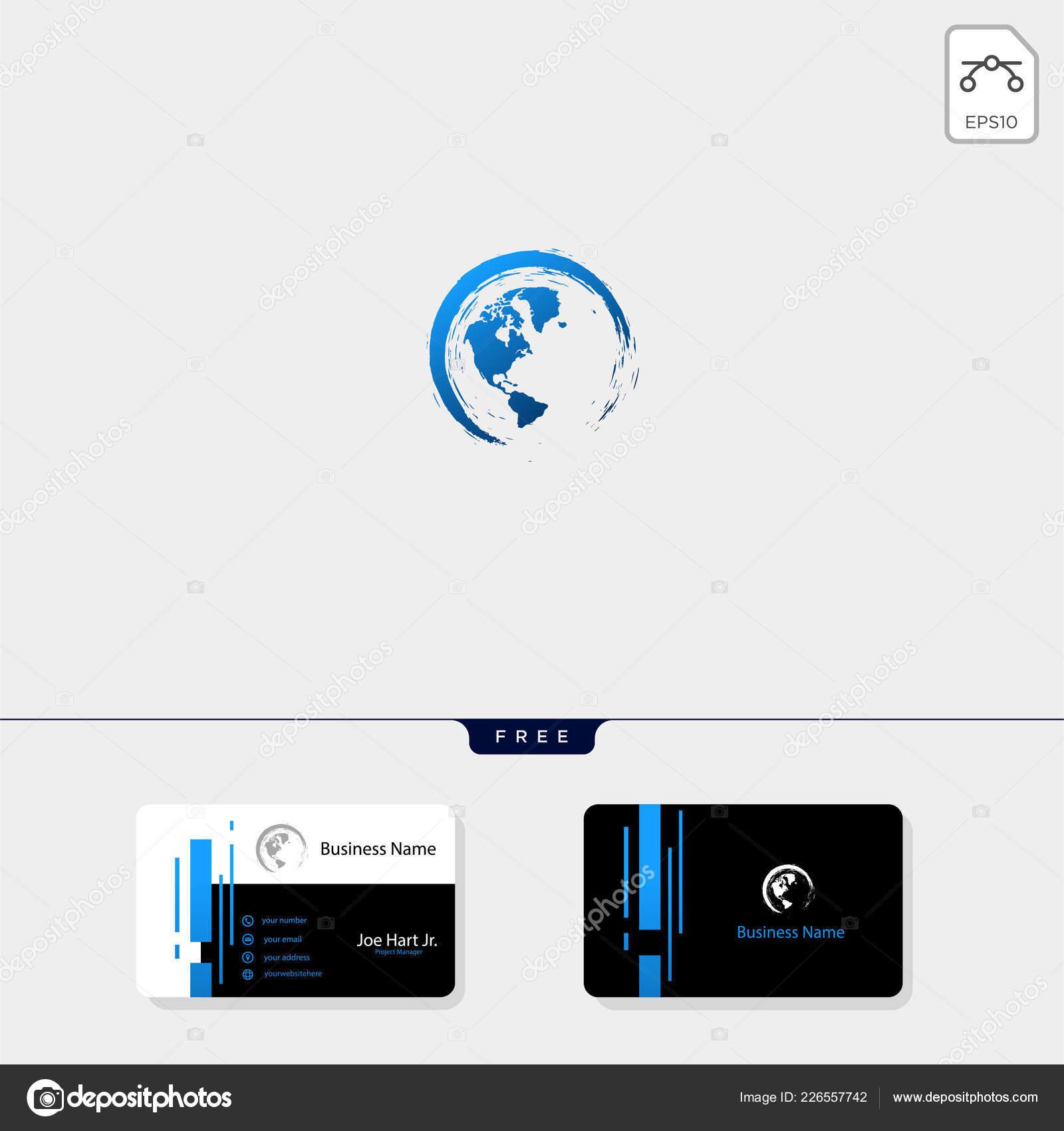 Globus Mit Splatter Symbol Oder Logo Vorlage Mit Kostenlose
