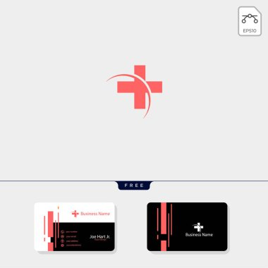 cross Medical pharmacy logo design template.vector illustrator, get free business card design template