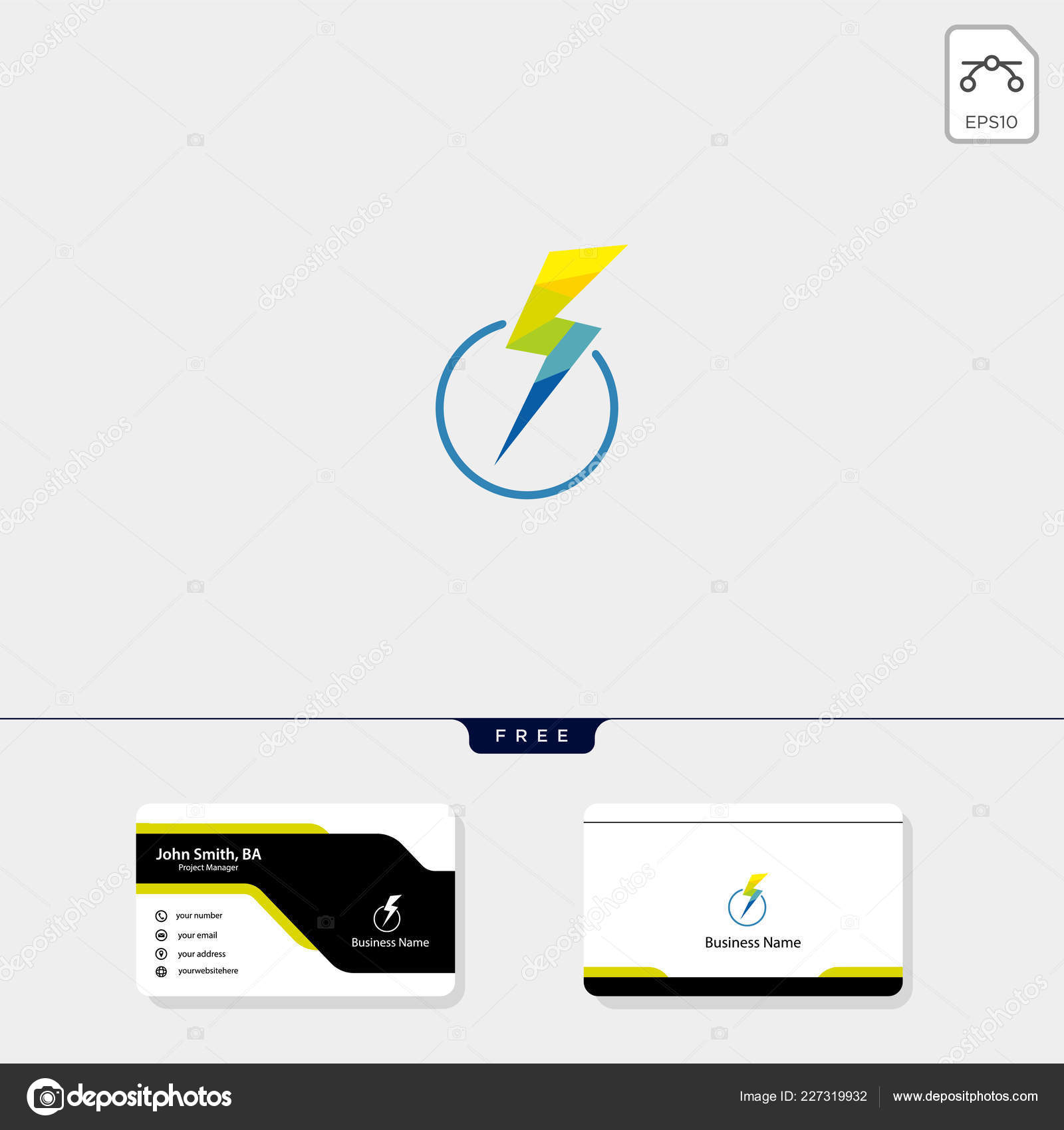 Sturm Flash Logo Vorlage Vektor Illustration Kostenlose