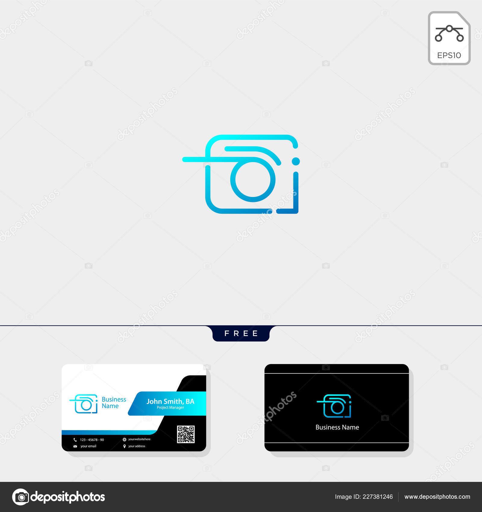 Modele De Conception Carte Visite Gratuit Illustration Vectorielle Camera Logo Photographe Photographie Vecteur Par Vectoryzen
