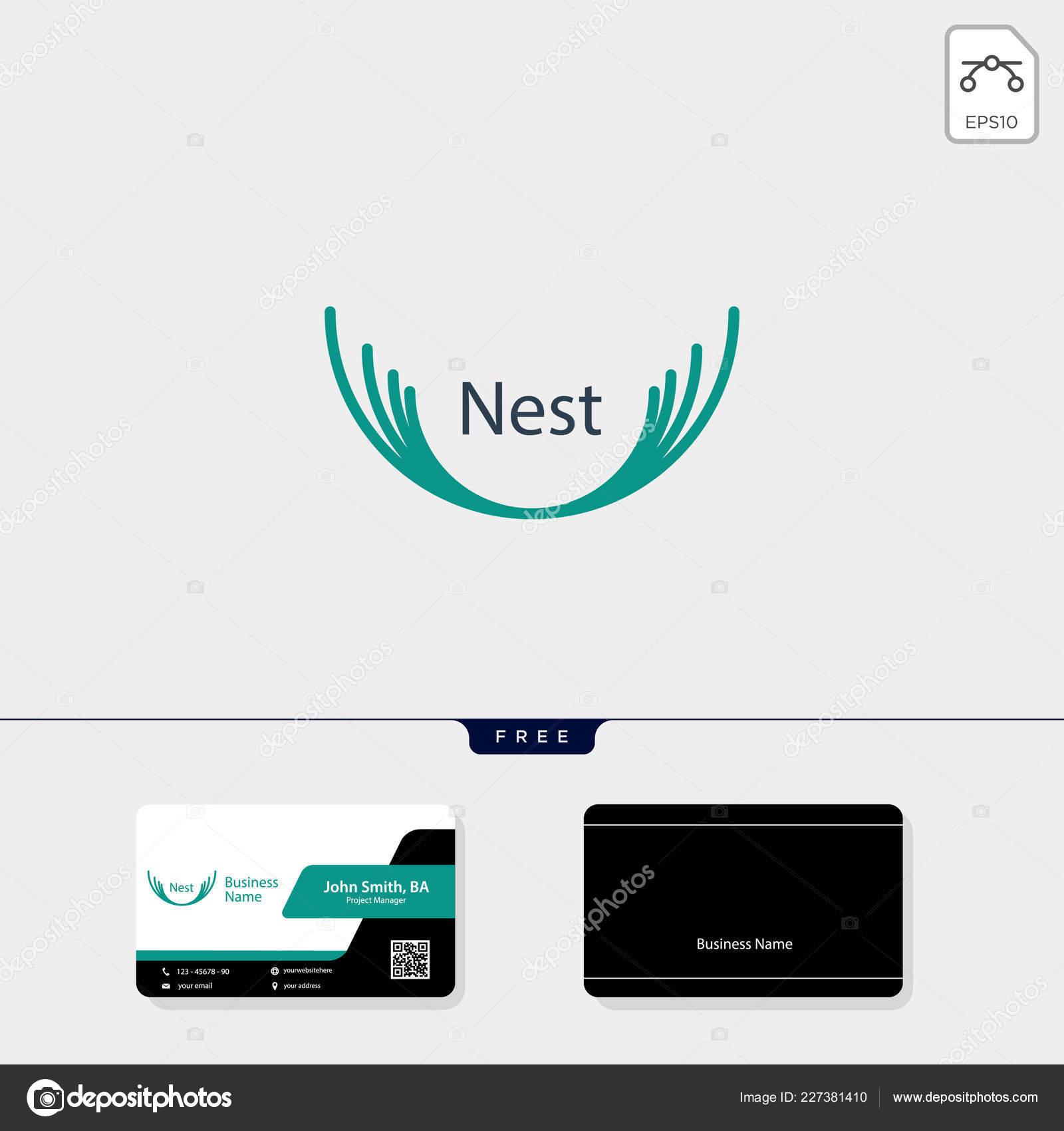 Nisten Sie Logo Vorlage Vektor Illustration Kostenlose