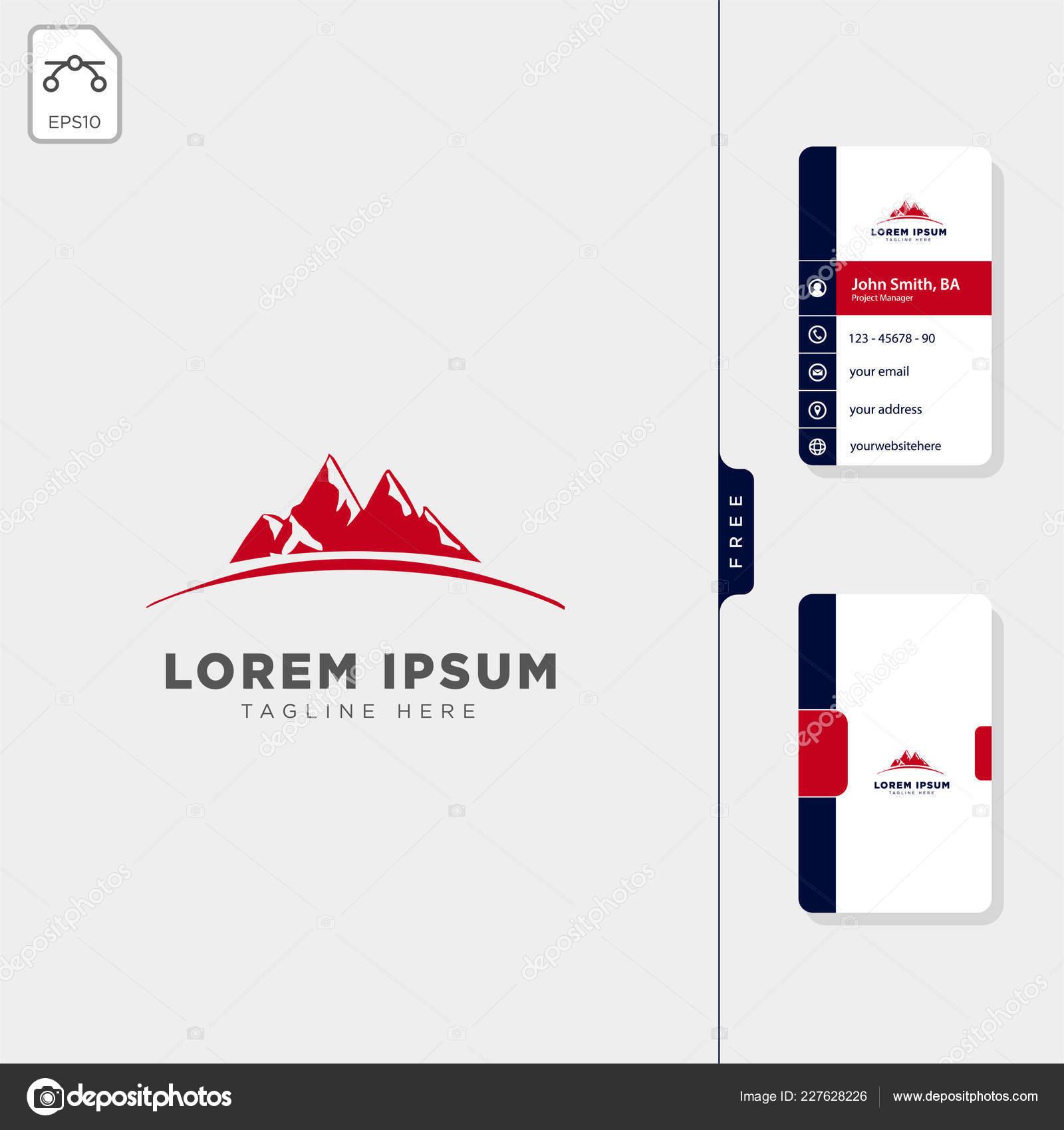 Modele De Conception Montagne Carte Navigator Logo Visite Gratuit Vecteur Par