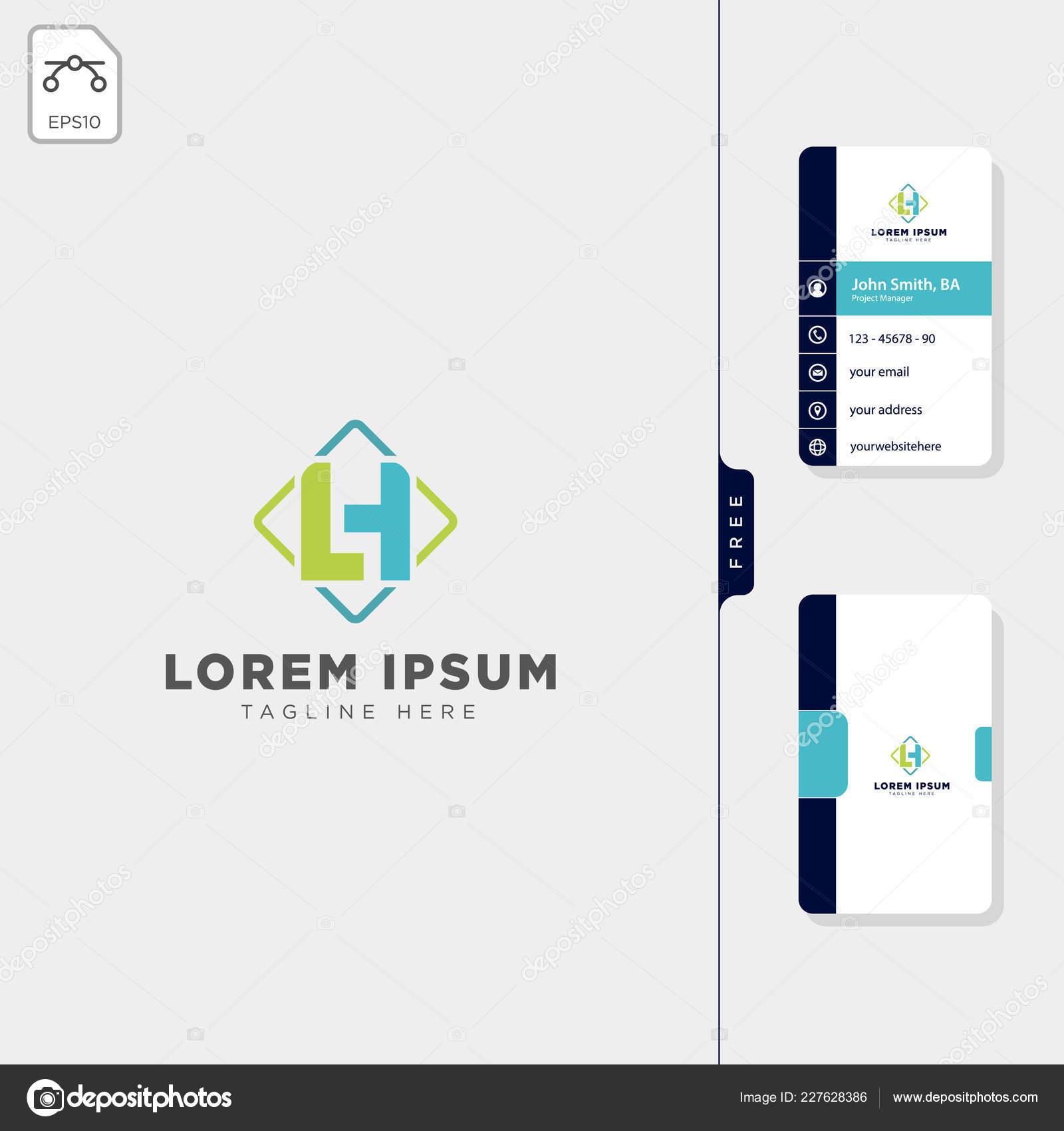 Minimale Erste Logo Vorlage Vektor Illustration Kostenlose