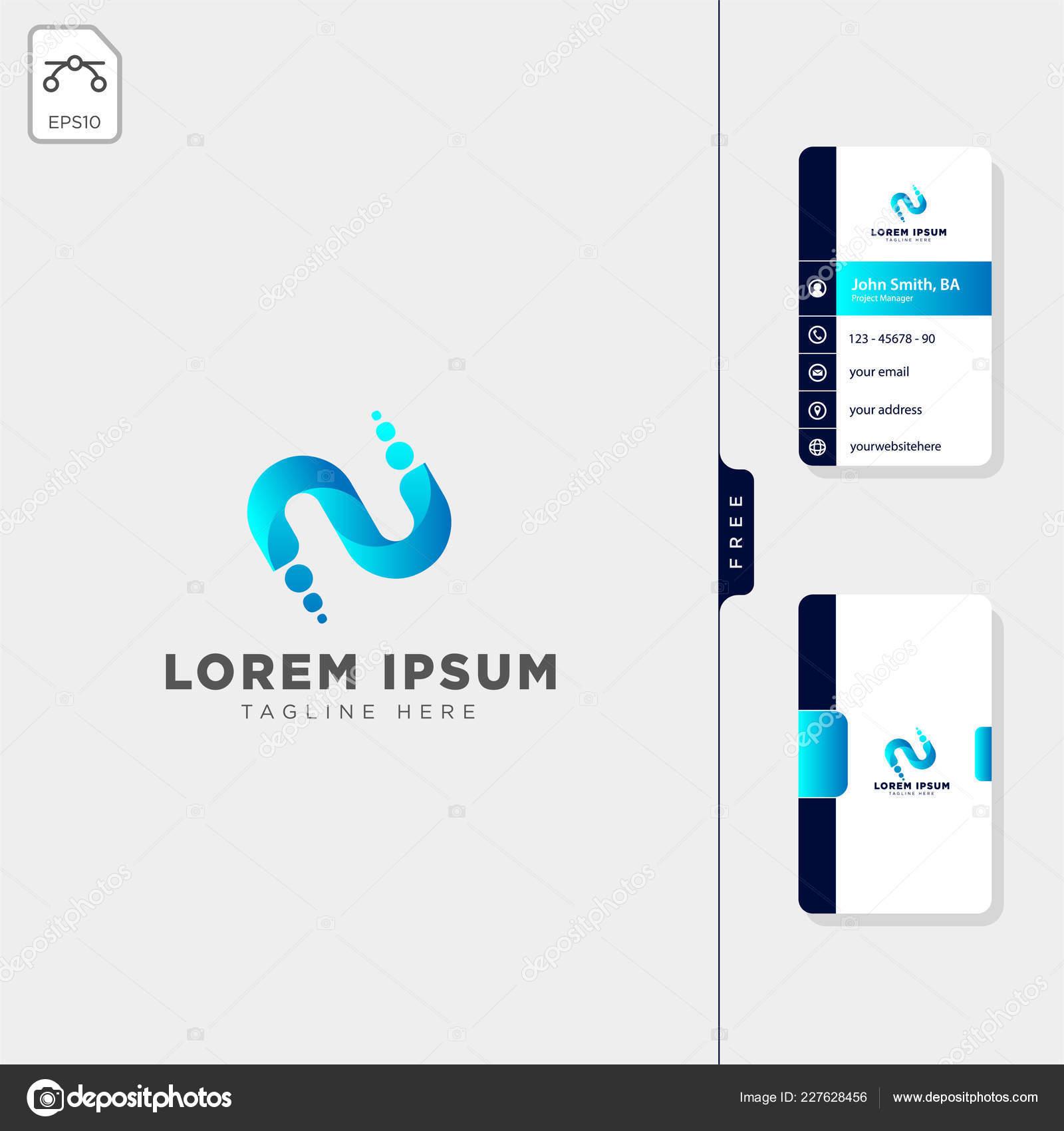 Minimale Ersten Logo Vorlage Vektor Illustration Erhalten