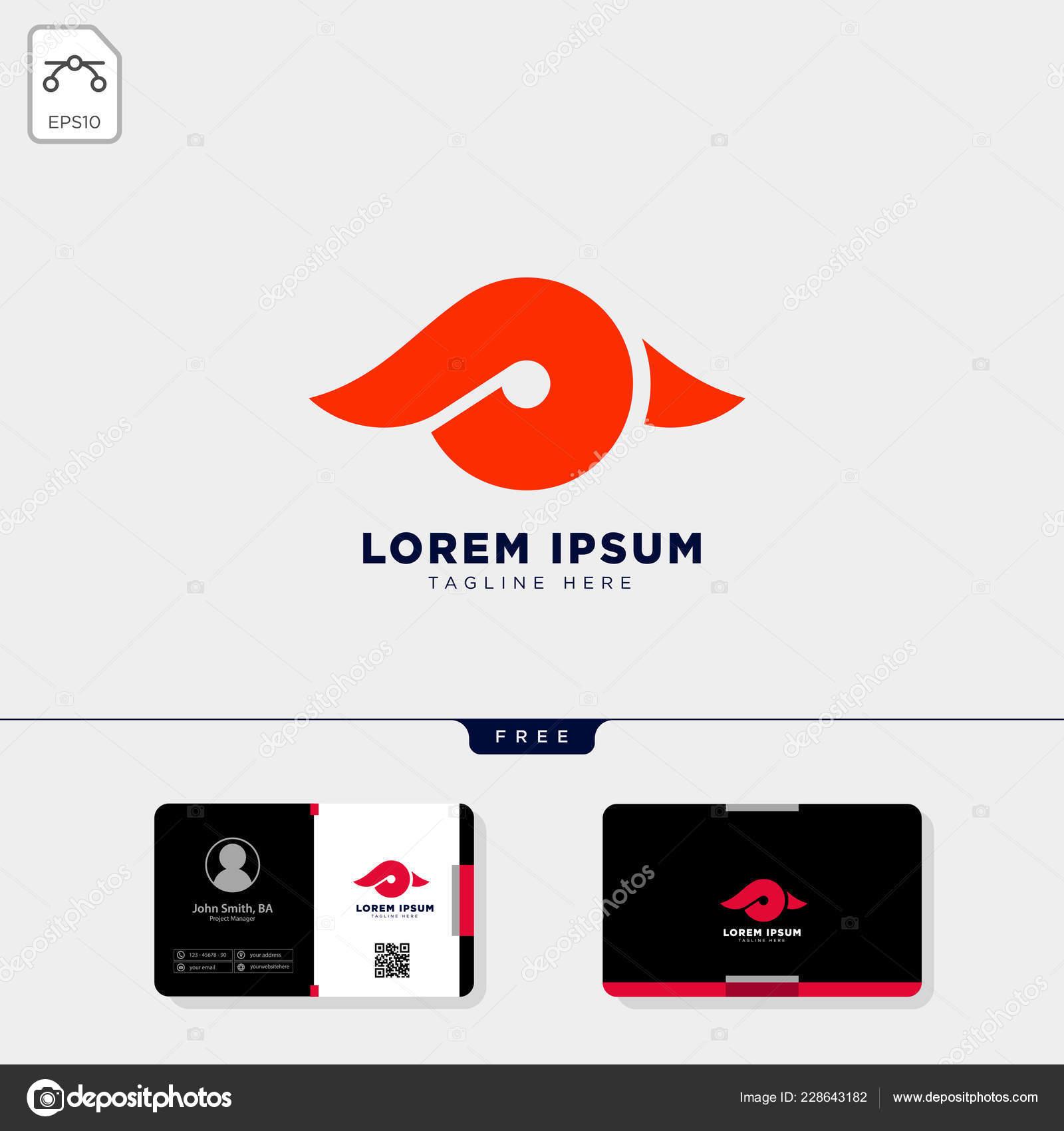 P Minimal Initial Illustration Vectorielle De Oeil Logo Modele Et Obtenir Le Conception Carte Visite Gratuit Vecteur Par