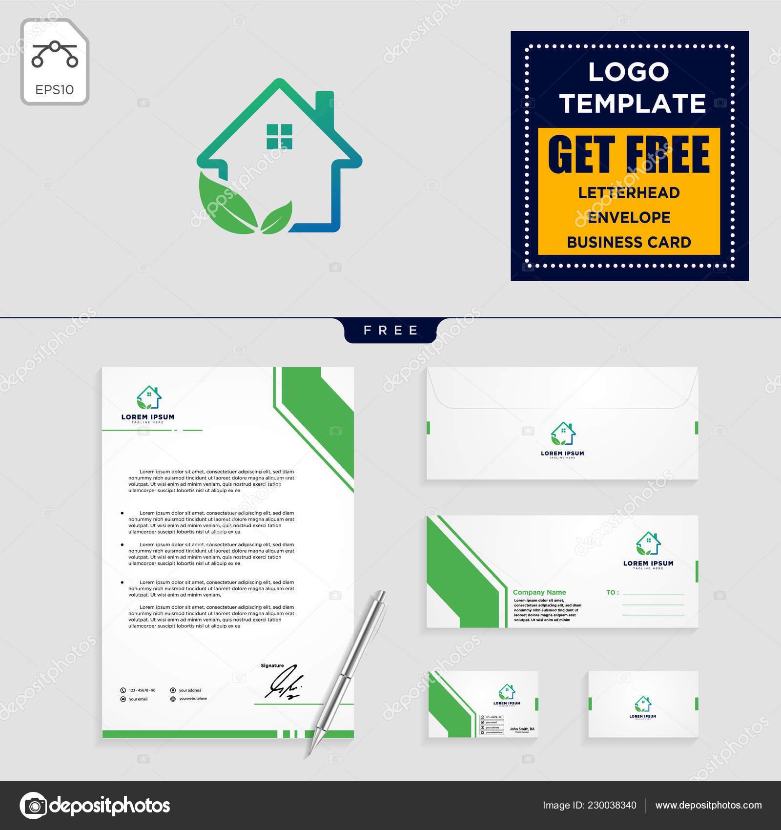 Nach Hause Blatt Eco Natur Logo Vorlage Vektor Illustration