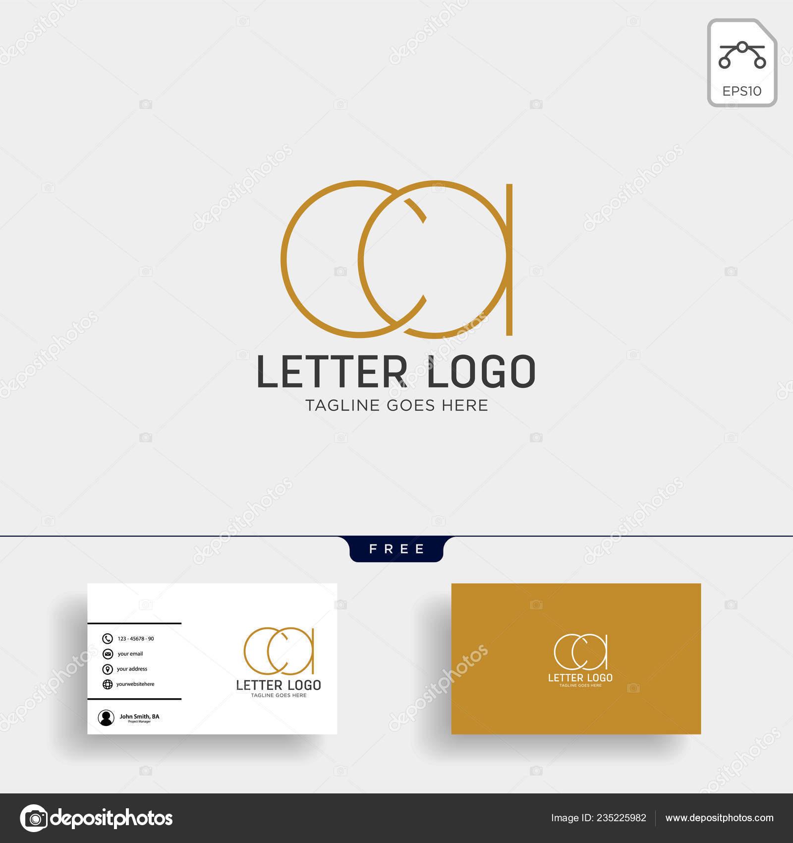 Brief Von Gold Kreative Logo Vorlage Vektor Illustration Mit