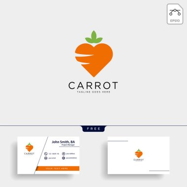 Love carrot logo template vector illustration icon element isolated - vector stock vector