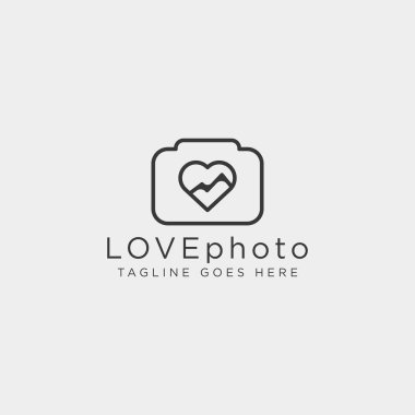 Love photography logo template vector illustration icon element isolated - vector stock vector
