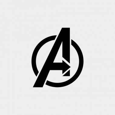avengers Logo isolated vector icon, symbol avengers