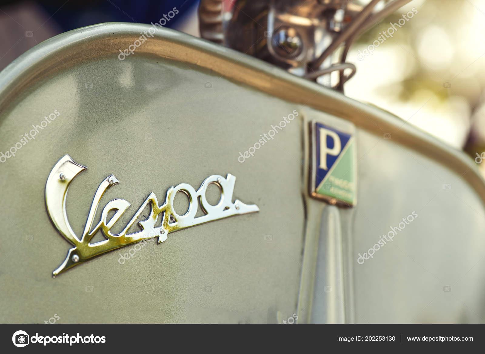 San Pellegrino Terme Italy July 2018 Vespa Motorbike Meeting Vintage Stock Editorial Photo C Michelangeloop 202253130