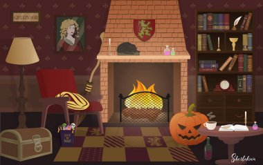 Griffindor hall in Halloween