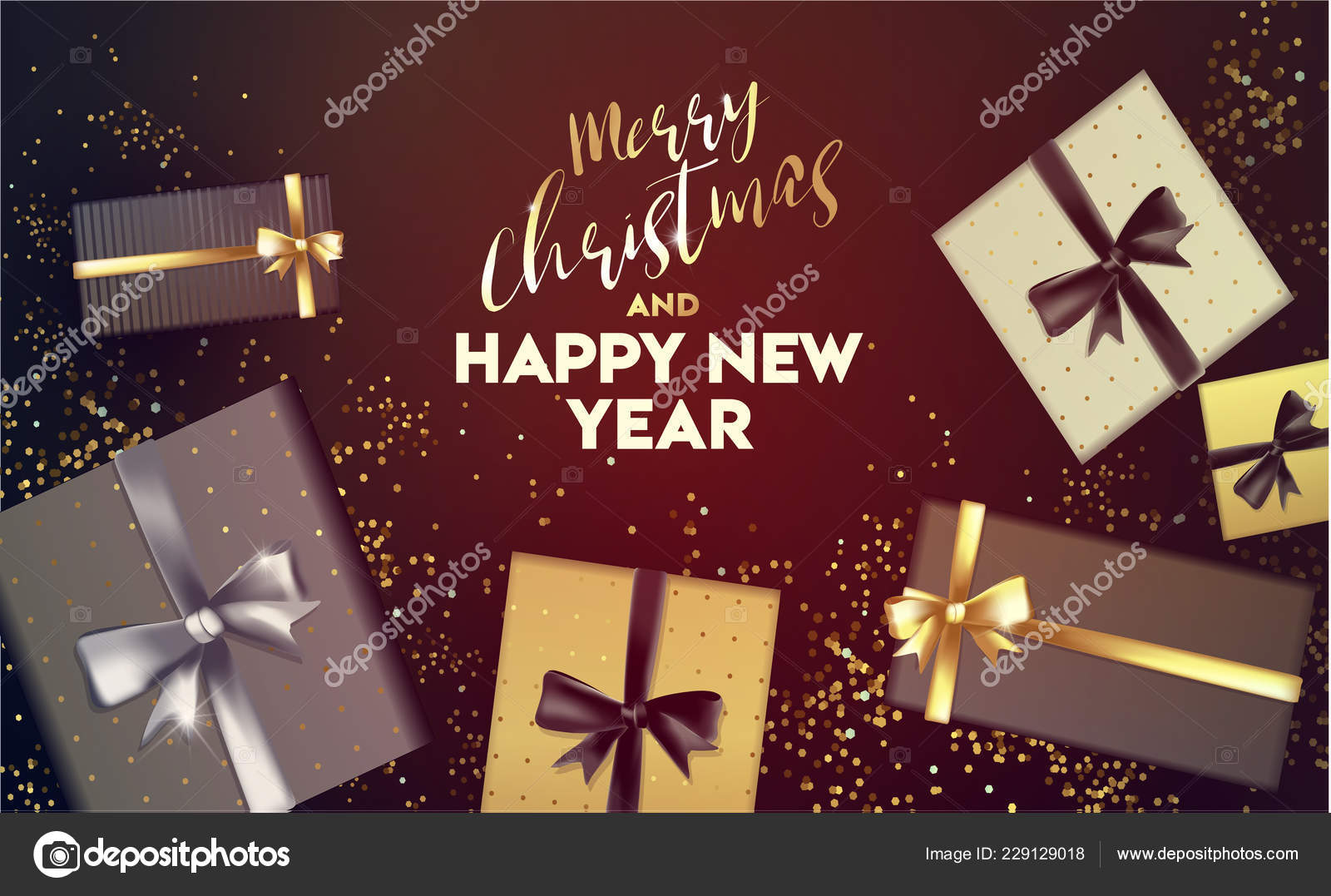 Happy New Year 2019 Merry Christmas Happy New Year Vector