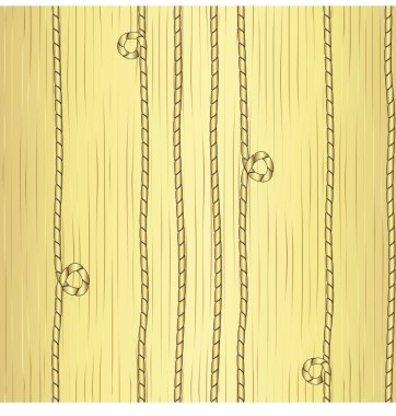 Golden cords on a striped background. Seamless vector pattern on gradient background.