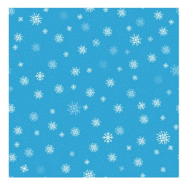 Winter seamless neutral vector background with falling snowflakes.