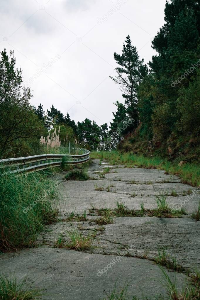 the road in the mountain