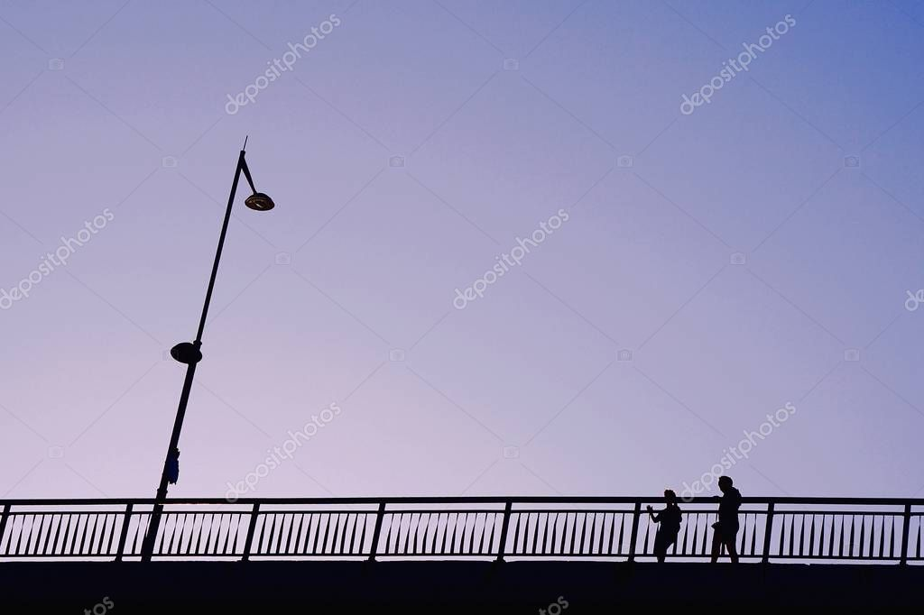 the people silhouette in the street