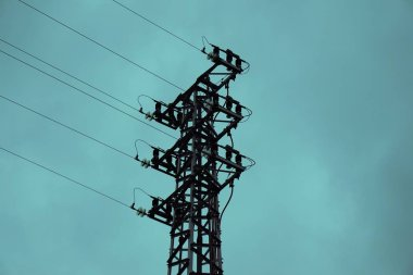 electricity tower in the sky
