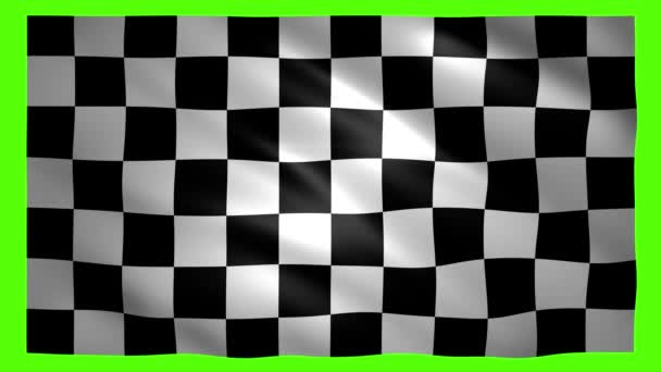 Zielflagge auf grünem Bildschirm für Chroma-Schlüssel