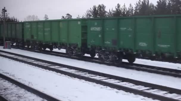 a vonat halad a rail.lifestyle, a vonat a kocsik mozog, erdő mellett. koncepció railroad train gépkocsik és a vonat utazás