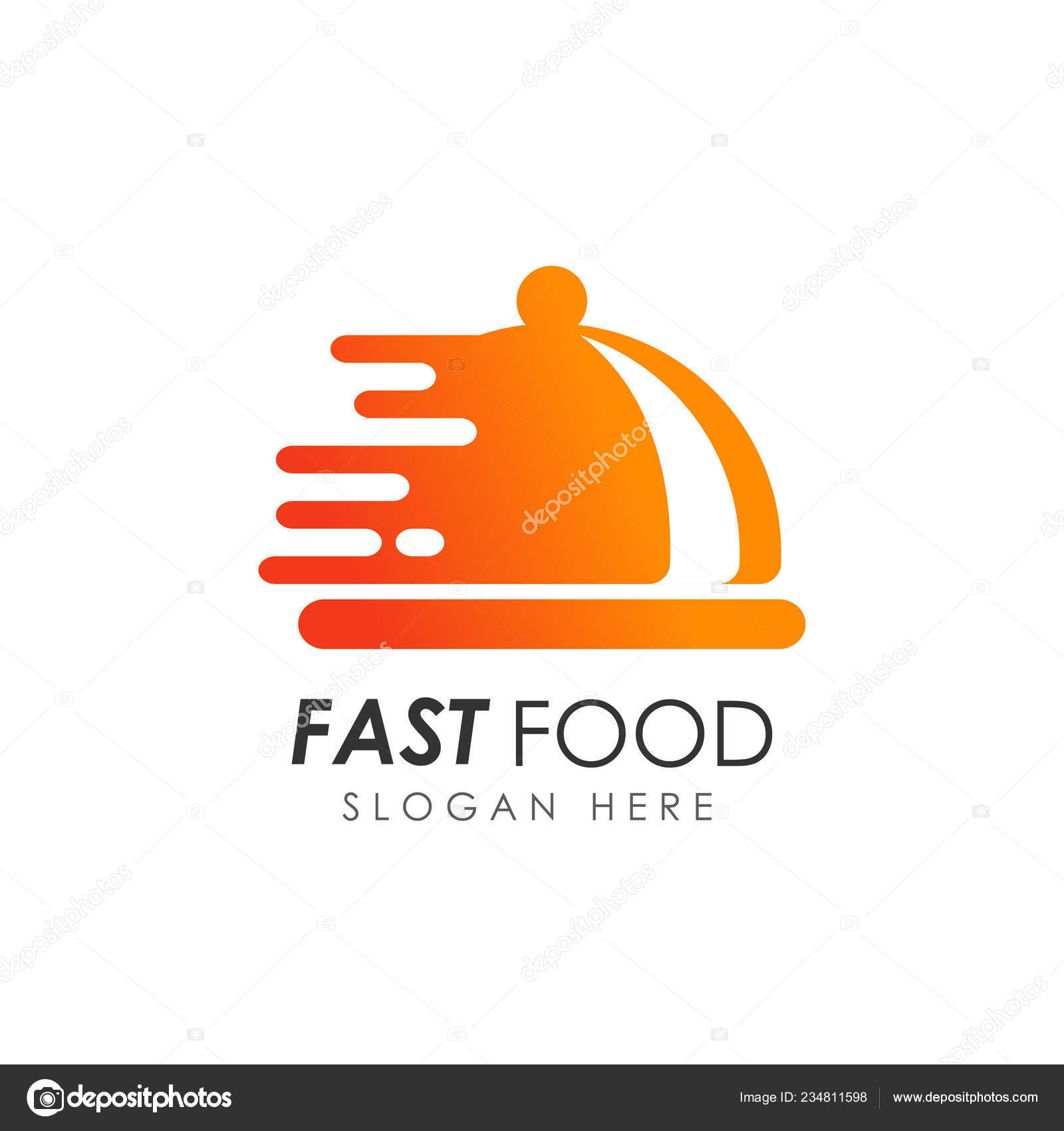 Fast Food Logo Design Food Delivery Logo Stock Vector C Distrologo 234811598