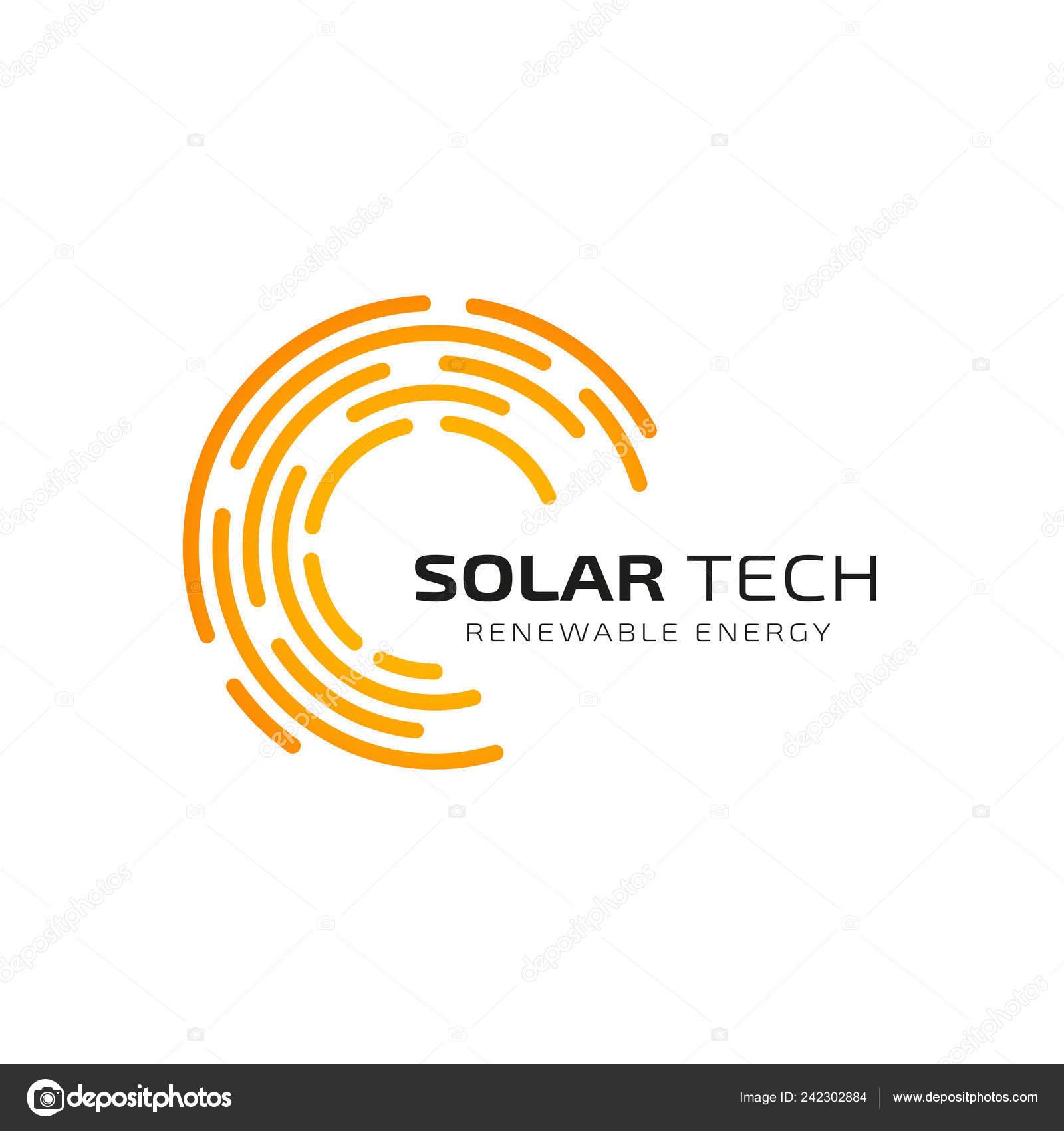 Sun Solar Energy Logo Design Template Solar Tech Logo