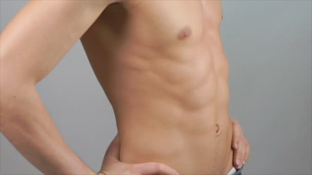 Handsome Man. Athletic Body.