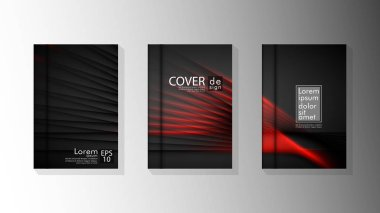 Vector collection of book cover backgrounds. eps 10 vector design illustrations