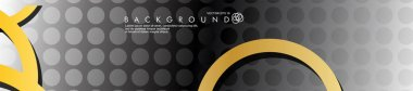 vector banners with overlapping golden circles, background designs for advertisements, and so on. eps 10
