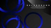 Abstraktní kovové vektorové pozadí s lesklými modrými černými kruhy