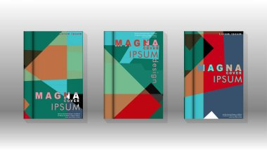 Background of abstract book cover layout. For brochures, magazines, vector templates, etc. Modern designs form geometric patterns in EPS 10
