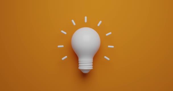 Ideenkonzept Glühbirnen-Animation