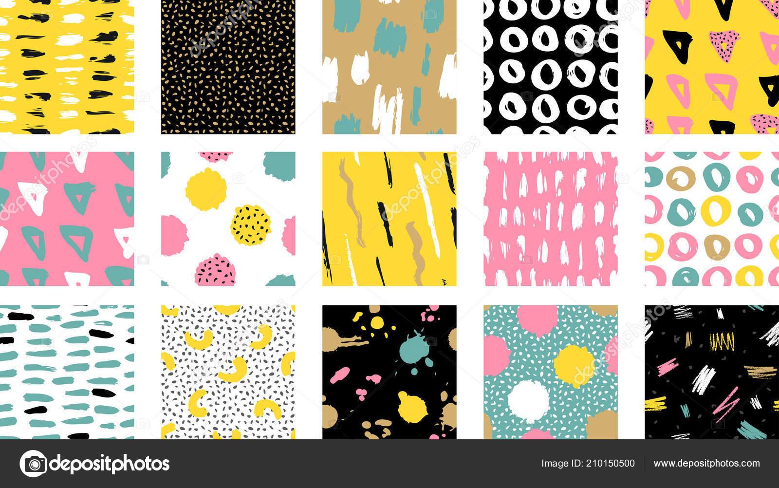 Trendy Vector Seamless Colorful Pattern Brush Strokes Design Backgrounds Wallpaper Stock Vector C Tolchik 210150500