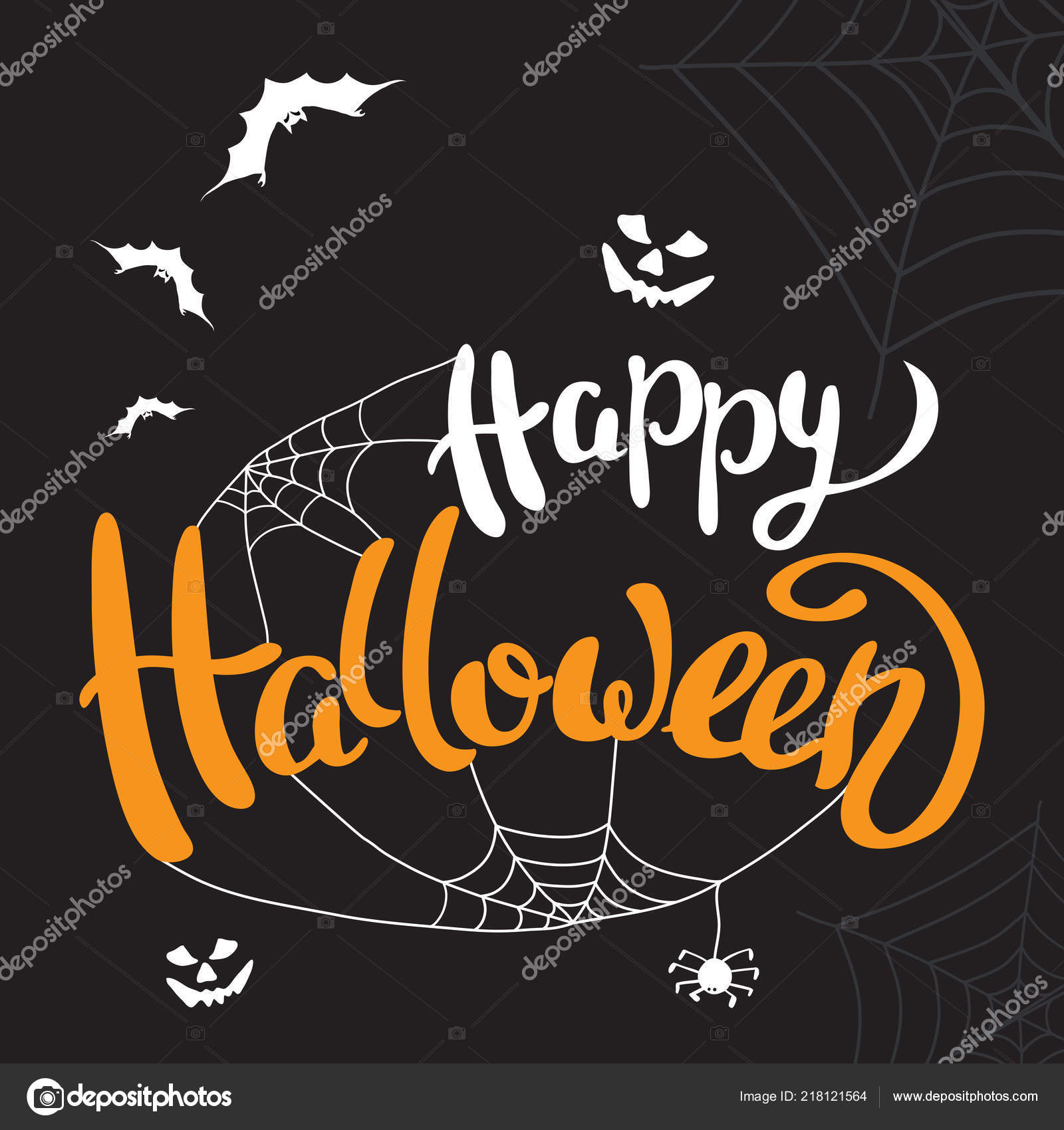 happy halloween template banner poster halloween holiday lettering