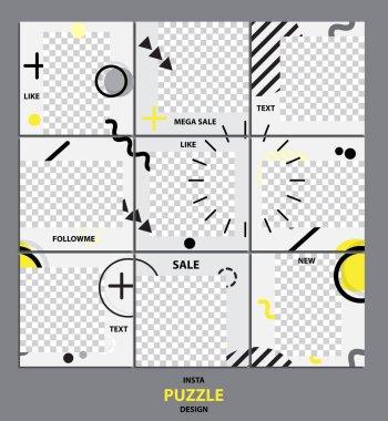 Trendy editable template for social network message, vector illustration. Design backgrounds for social media.