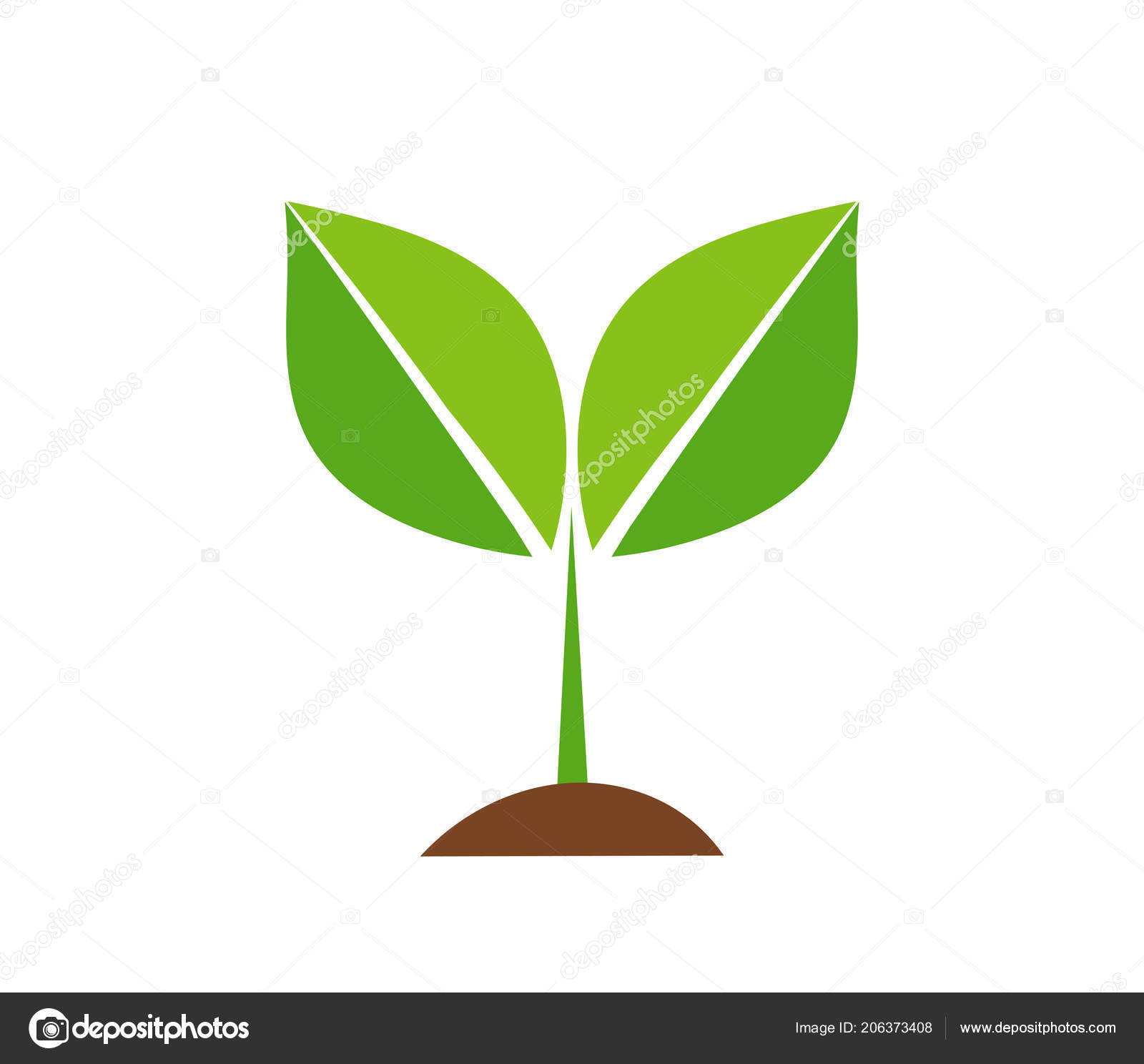 Spring Plant Icon Vector Illustration Stock Vector C Studiobarcelona 206373408 Plant tropical factory icon field icon drops plant water button plant abstract plant bending plant businessman icon grass icon. https depositphotos com 206373408 stock illustration spring plant icon vector illustration html