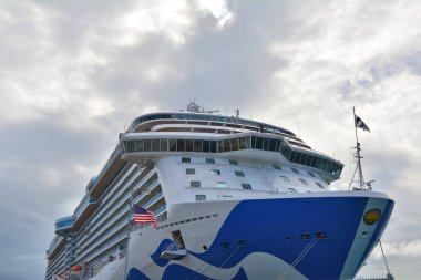 Royal Princess ship docked in Charlotte Amalie port in Saint Thomas