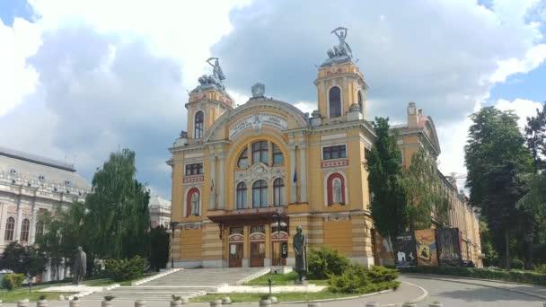 Cluj-Napoca Romanian National Theatre in the Avram Iancu Square built in beautiful classic baroque architectural style