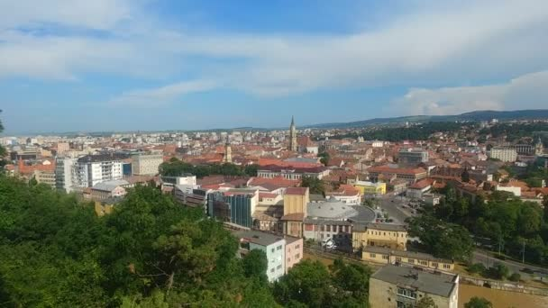 Panoramic view of Cluj-Napoca city in the heart of Transylvania, Romania