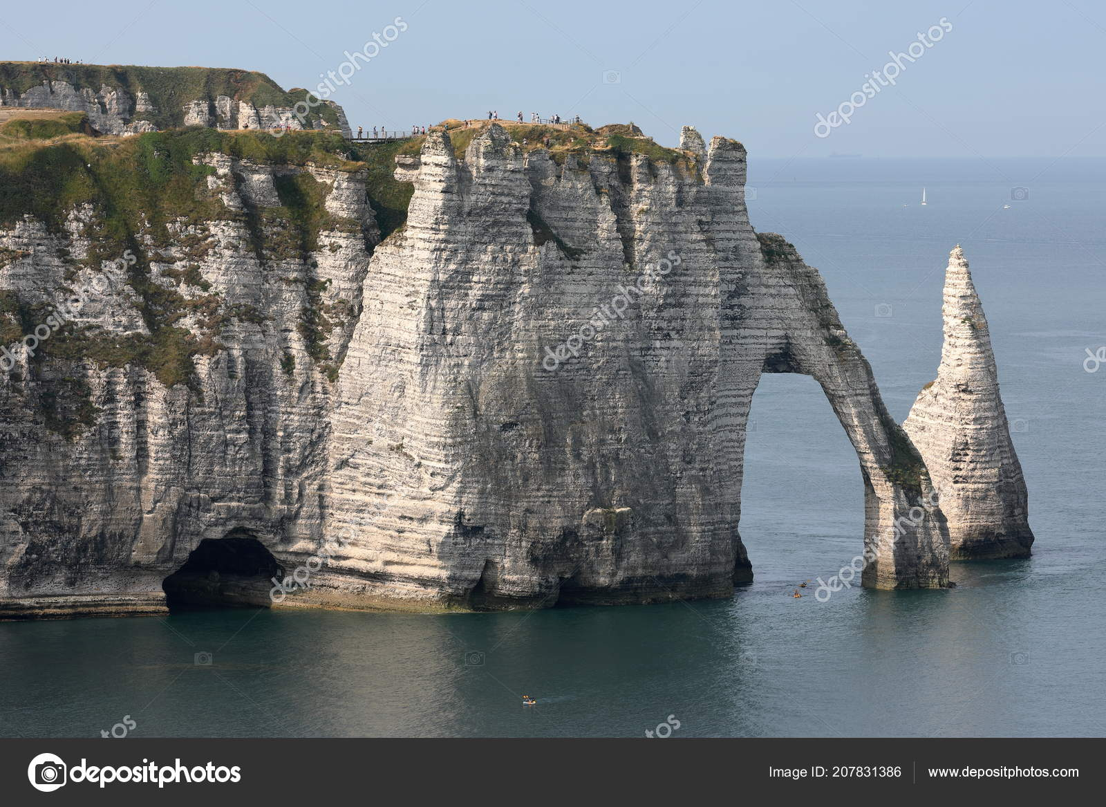 Cliffs Etretat Normandy Stock Photo C Hecke06 207831386