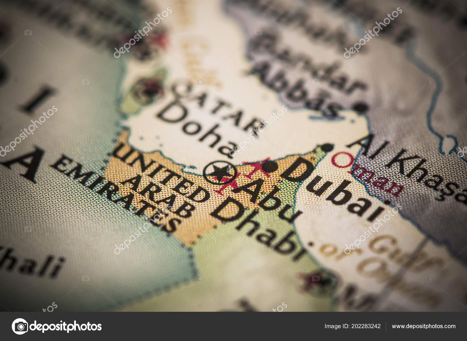 Dubai United Arab Emirates World Map — Stock Photo © icemanj #202283242