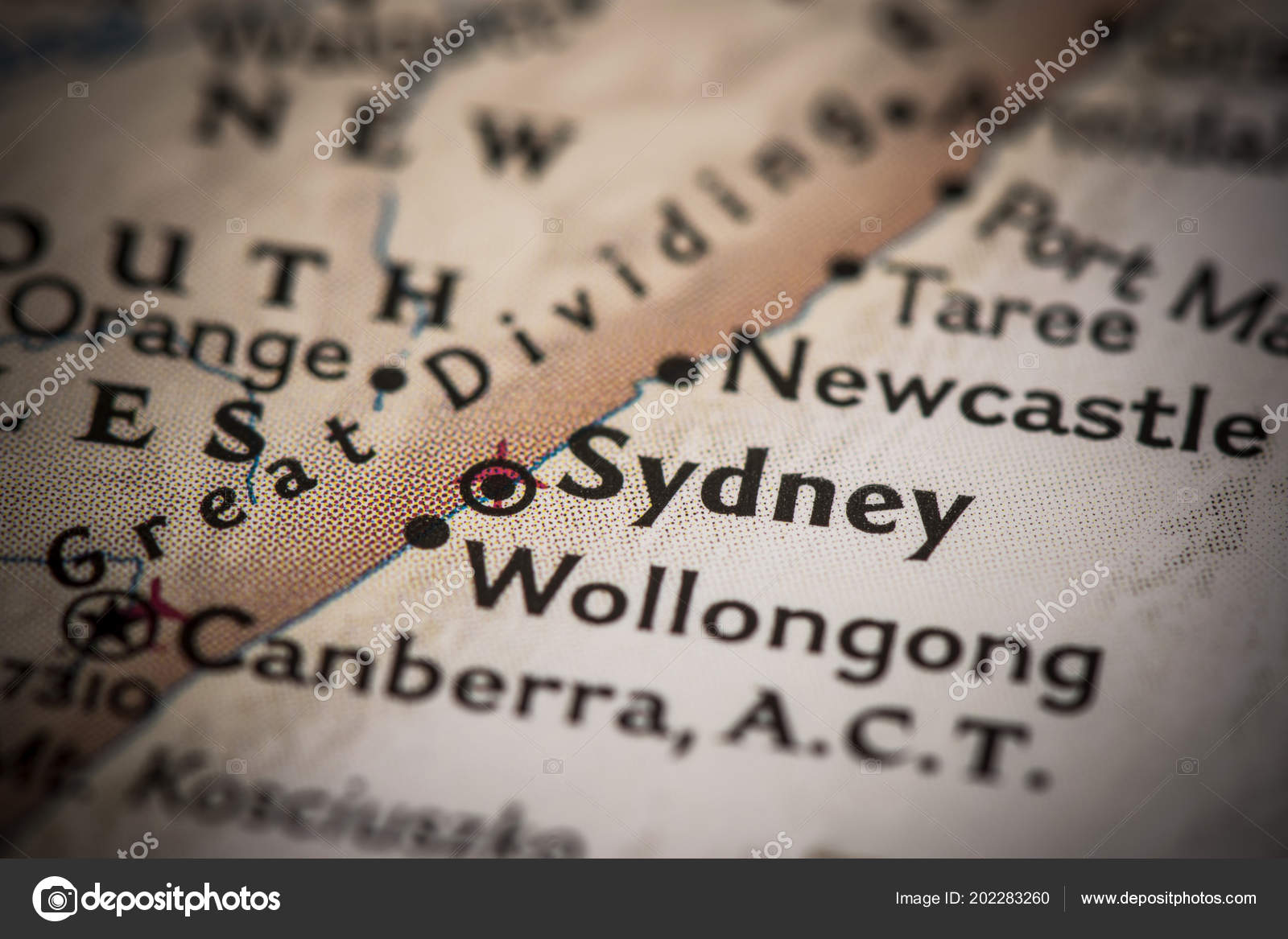 Sydney Australia World Map.Closeup Sydney Australia World Map Stock Photo C Icemanj 202283260