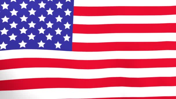 National flag of United States of America waving in wind