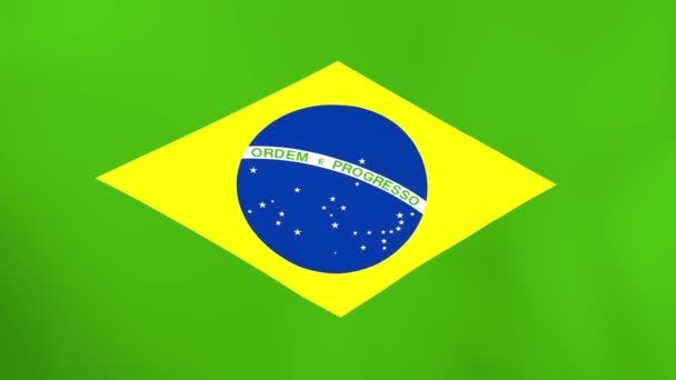 National flag of Brazil waving in wind