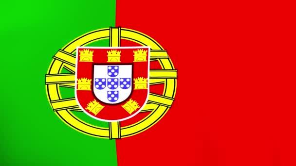 Portugália nemzeti zászlaja szélben integetett