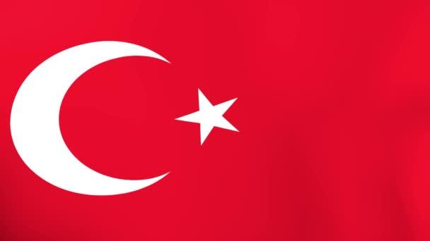 Török zászló integet a szél
