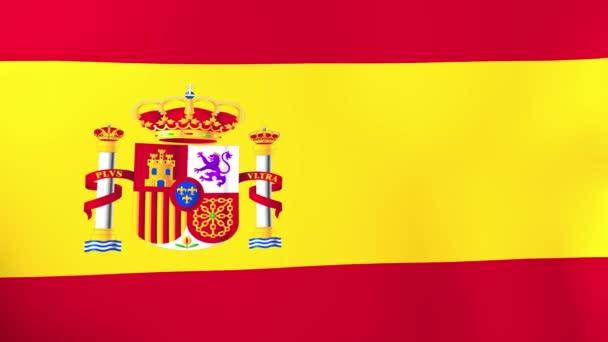 flag of spain waving in wind